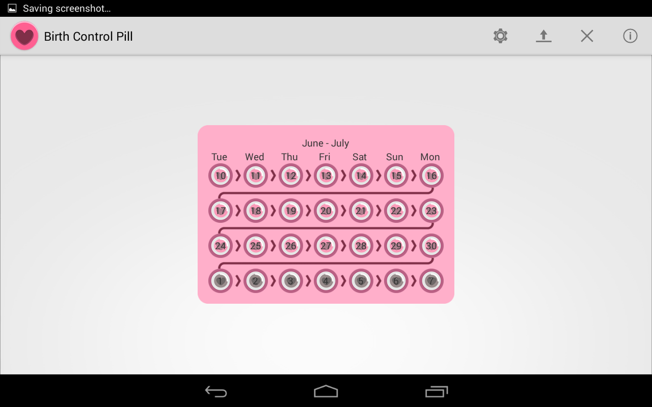 Birth Control Pill Alarm- screenshot