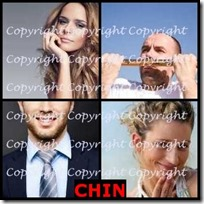 CHIN- 4 Pics 1 Word Answers 3 Letters
