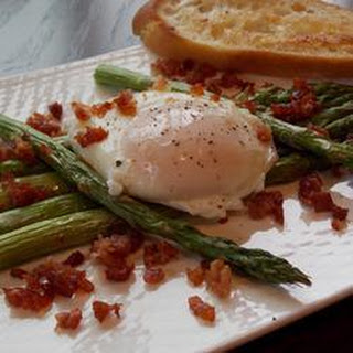 Roast Asparagus with Prosciutto and Poached Egg Recipe
