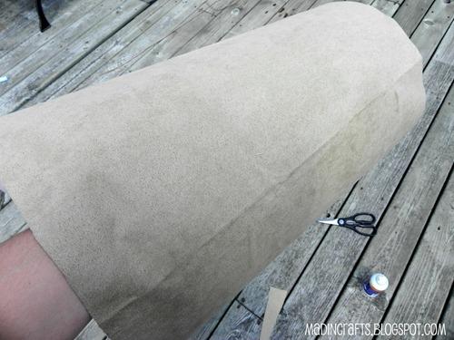 use spray adhesive to glue fabric to shade