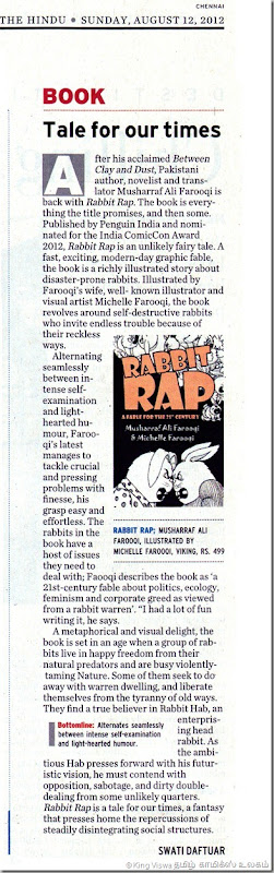 The Hindu Daily Sunday Magazine Page No 08 Rabbit Rap Graphic Novel Review