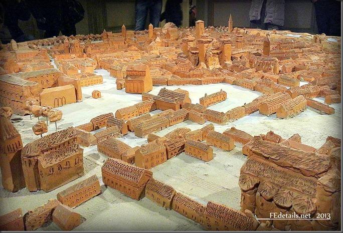 Plastico della città di Ferrara nel Castello Estense, Model of the city of Ferrara in Castello Estense, Ferrara, Italy , Photo1