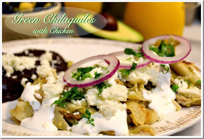 Chilaquiles Verdes with Chicken | Mexican Recipes