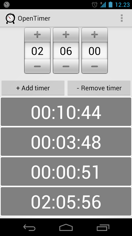 OpenTimer - screenshot