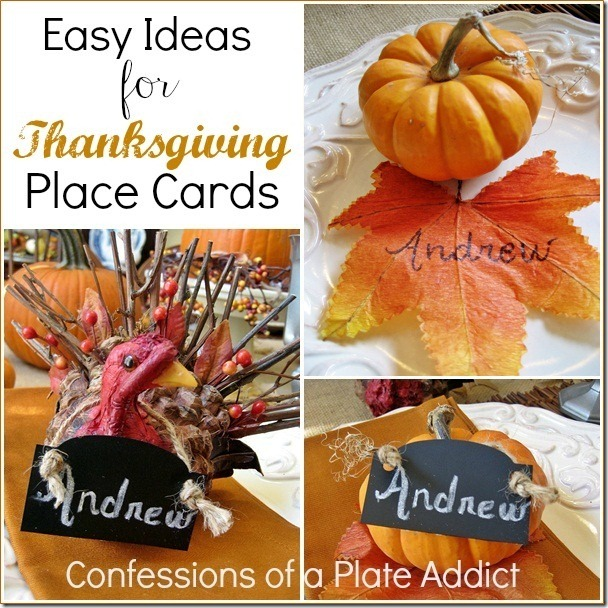 CONFESSIONS OF A PLATE ADDICT Easy Thanksgiving Place Cards