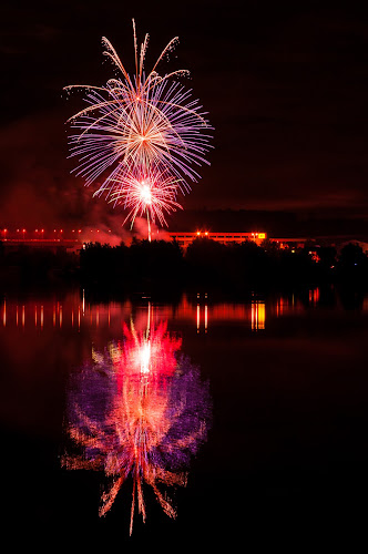 Fireworks 2013 in Pilsen 13 by Martin Zenisek - Abstract Fire & Fireworks ( mirror, water, pilsen, fireworks, night,  )