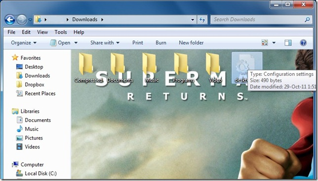 TechsTrick: How to Change folder background in Windows 7/vista/xp