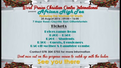 Word Praise Christian Centre International presents the African High Tea with the