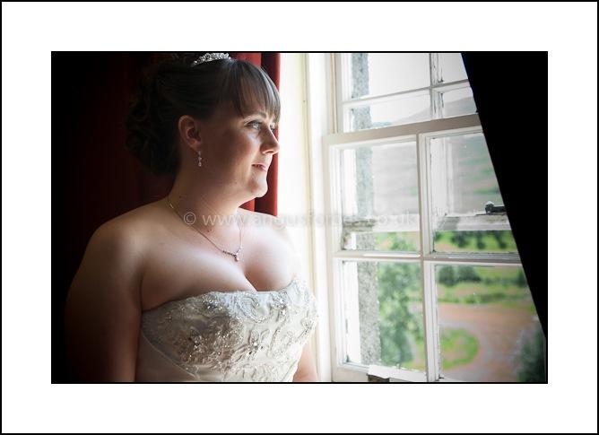 bride in scottish castle