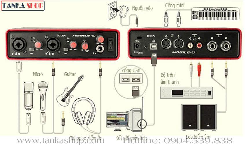 Sound card usb Icon Mobile U