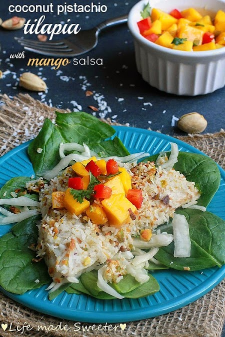 Coconut pistachio crusted tilapia - Life made Sweeter8.jpg