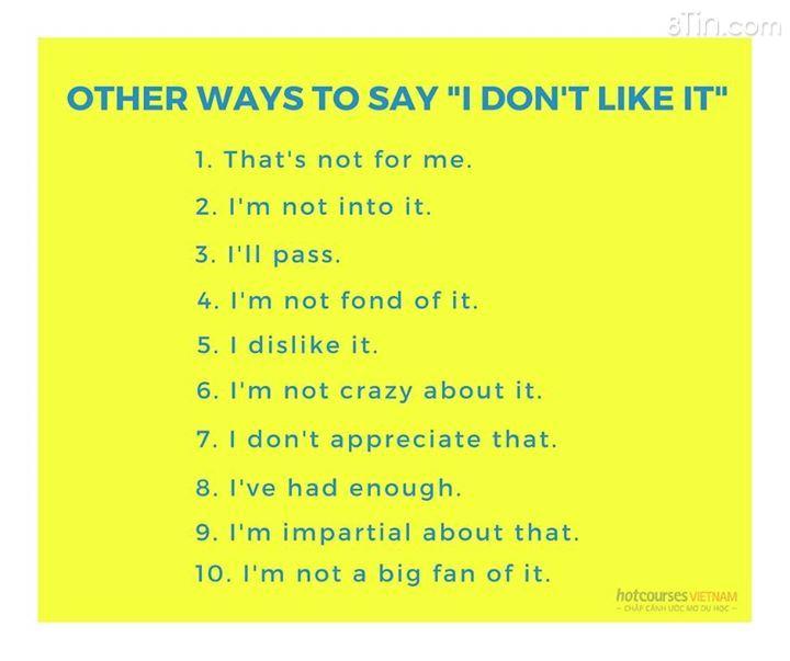 Các bạn đã biết hết những cách nói này chưa? :)
