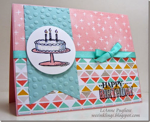 LeAnne Pugliese WeeInklings Big Day Match the Sketch Stampin Up