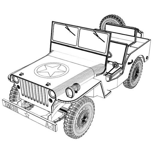 Jeeps Dibujos Para Colorear