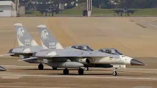 Chiến đấu cơ Đài Loan tại Căn cứ Không quân Hoa Liên ở phía Đông của Đài Loan.