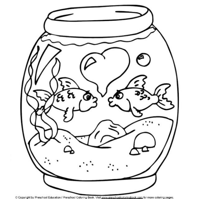 Desenho Aquario Para Colorir Colorir E Aprender