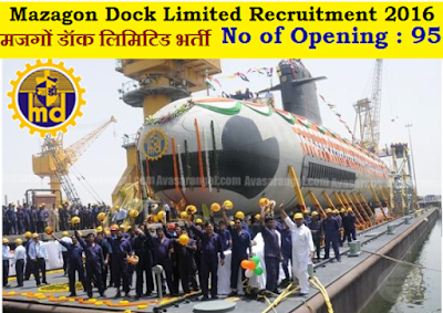 Mazagon Dock Limited MDL Recruitment 2016