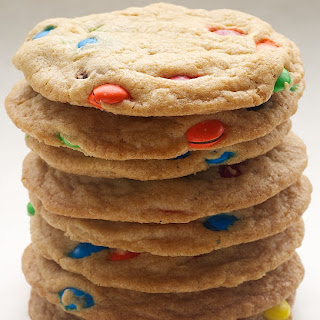 Big Chewy M&M Cookies.