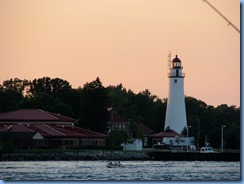 3714 Ontario Sarnia - view of Fort Gratiot Lighthouse Port Huron, MI at sunset
