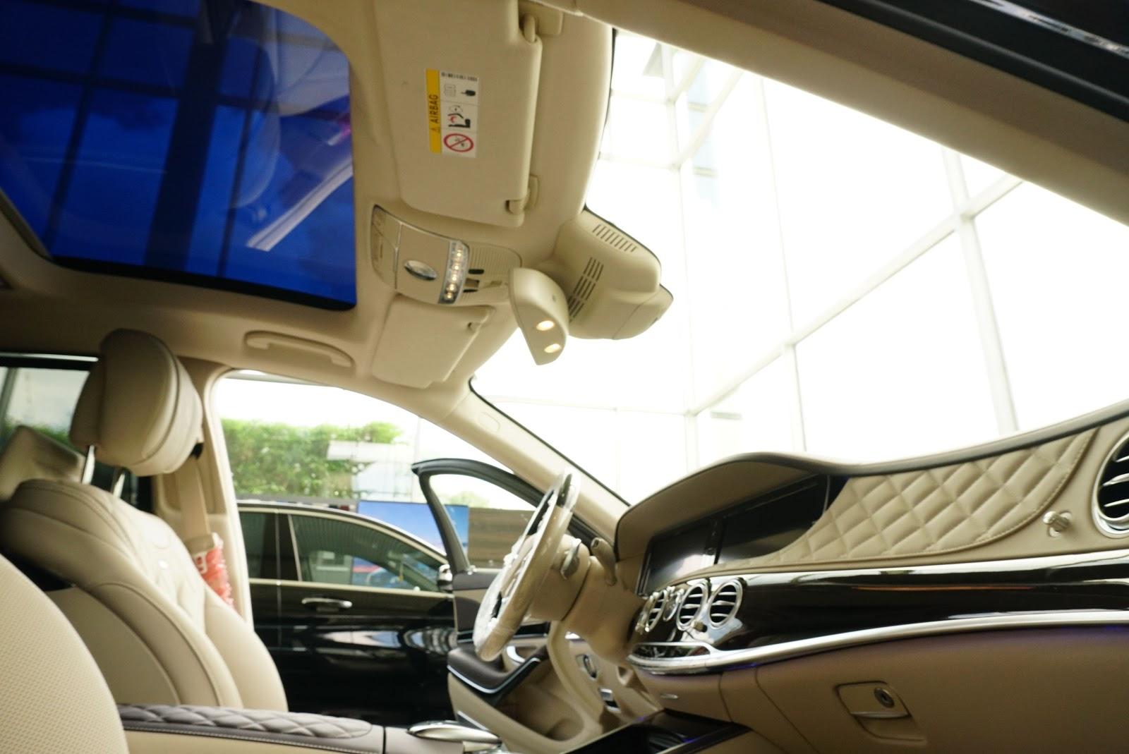 Nội Thất Xe Mercedes Benz S600 MAYBACH Màu Đen 012