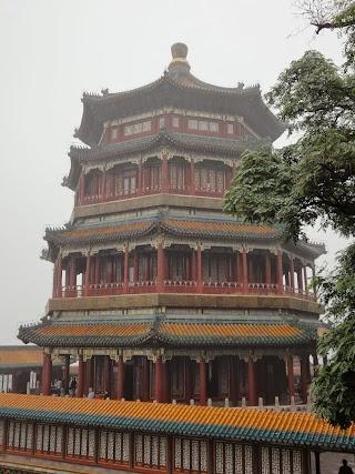 Pagode du Temple des Fragrances bouddhiques dans le Palais d'été à Beijing