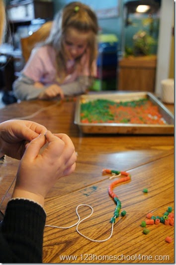 Native American Seminole Tribe Bead Necklace craft for kids - hands on history fun!