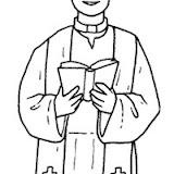 Dibujos De Sacerdote Para Pintar