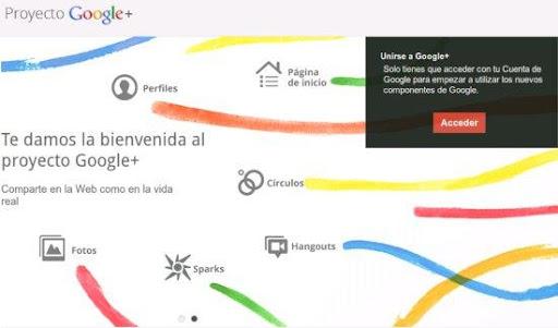 registrarse en Google plus