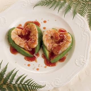 Sesame Shrimp Hearts With Passion Sauce.