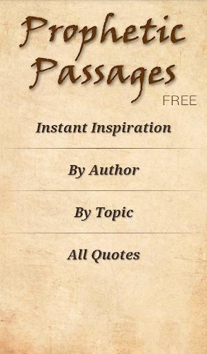 LDS Prophetic Passages Free