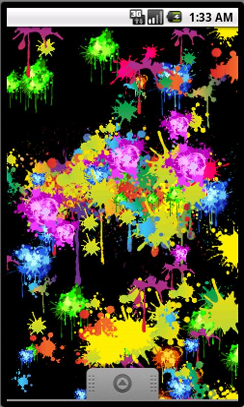 Paint Splash Livewallpaper - screenshot