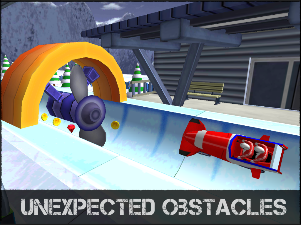 Crazy Bobsleigh: captura de tela