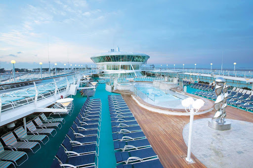 Enchantment-of-the-Seas-pool - Soak in the rays or just soak in one of Enchantment of the Seas' nine swimming pools and whirlpools.