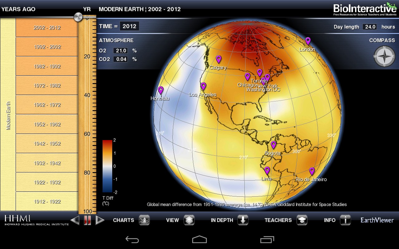BioInteractive EarthViewer - screenshot