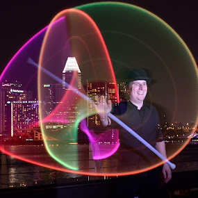 SMILE!! by Supriadi Lee - Abstract Light Painting ( i light marina bay singapore 2014 )