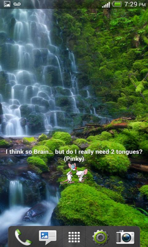 Pinky & The Brain Quote Widget - screenshot