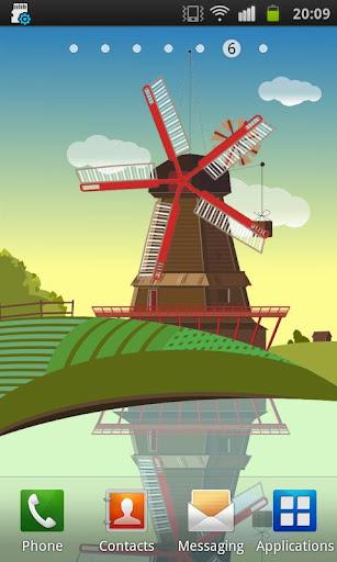 風車と池(無料で)