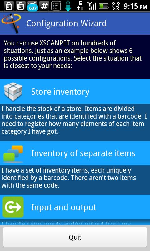 Inventory + Barcode scanner - screenshot
