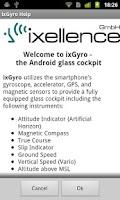 Screenshot of ixGyro Glass Cockpit Demo