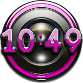 pink deluxe digital clock