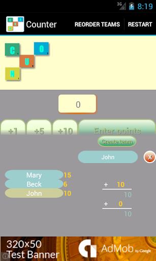 Score Tracker for Board Games
