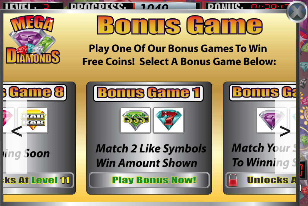 Mega Diamonds Slot Machine- screenshot