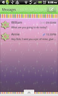 GO SMS THEME/GlitterRainbow- screenshot thumbnail