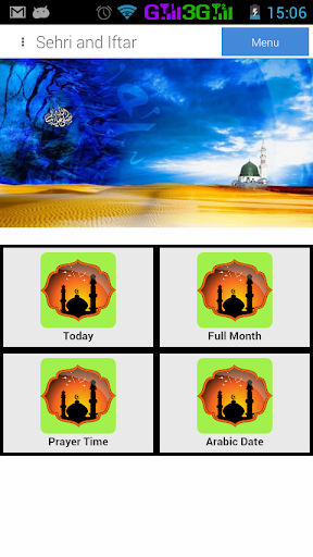 Sehri Iftar Timetable 2014
