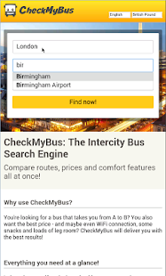 CheckMyBus Compare all Busses- screenshot thumbnail