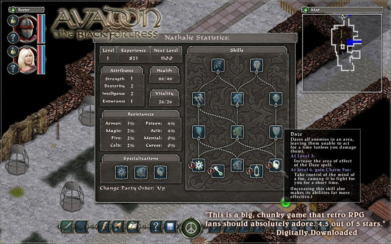 Avadon: The Black Fortress- screenshot
