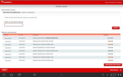 Cajamurcia Banca Online- screenshot thumbnail
