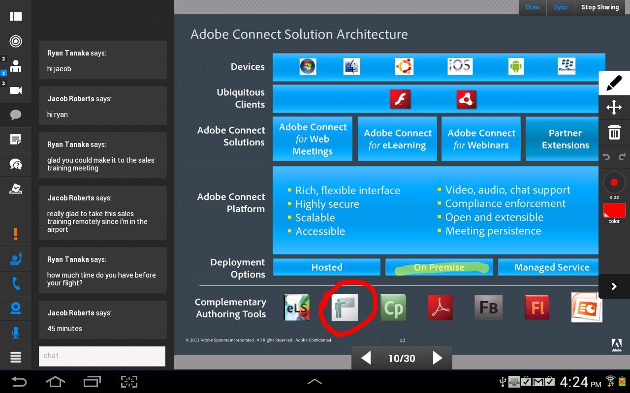 Adobe® Connect™ Mobile - screenshot