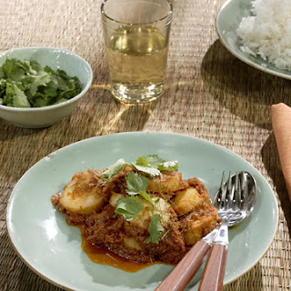 Fried Red Scallop Curry.
