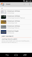 Screenshot of Quomai, loyalty & reward cards